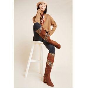 NEW Sam Edelman Hai Mixed Snake Leather Boot